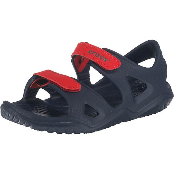 Gutes Angebot crocs  Sandalen Swiftwater River für Jungen  dunkelblau