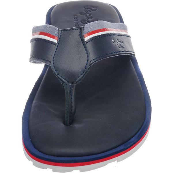 Jeans dunkelblau Fabric Pepe Barrel Zehentrenner FA6aqw7w