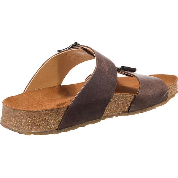 HAFLINGER HAFLINGER HAFLINGER Andrea Komfort-Pantoletten dunkelbraun  Gute Qualität beliebte Schuhe c4687b