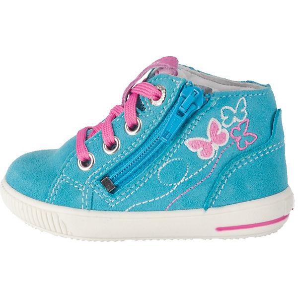 superfit Lauflernschuhe MOPPY für Mädchen, Schmetterling, Weite M4 hellblau
