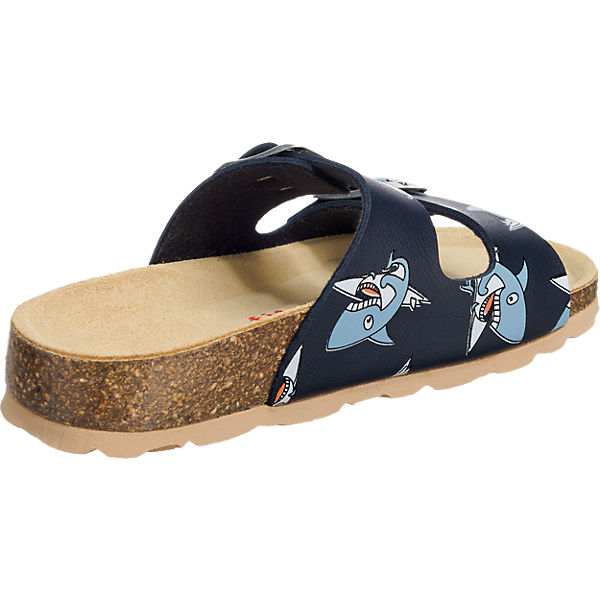superfit Pantoletten für Jungen, Hai dunkelblau