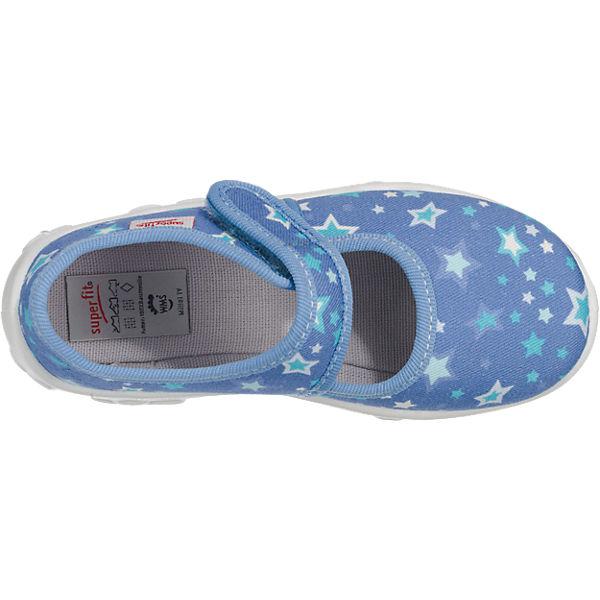 superfit Hausschuhe BONNY für Mädchen, Sterne, Weite M4 blau