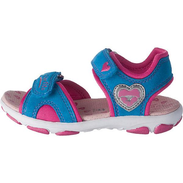 superfit Sandalen Nelly für Mädchen, Herz, Weite M4 blau