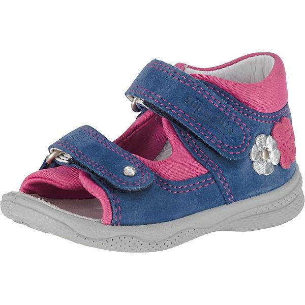 100% Spitzenqualität neuer Stil & Luxus High Fashion superfit, Baby Sandalen für Mädchen, Blumen, Weite M4, blau ...