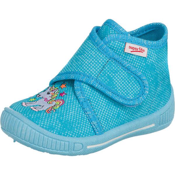 superfit Baby Hausschuhe BULLY für Mädchen, Einhorn, Weite M3 hellblau