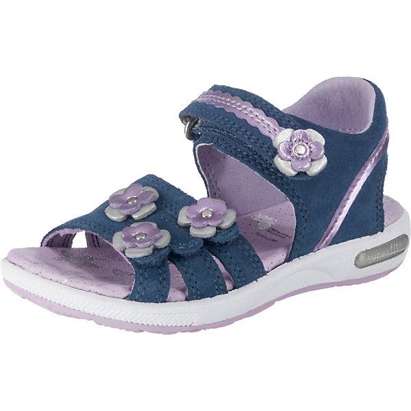 klassischer Chic populärer Stil unglaubliche Preise superfit, Sandalen EMILY für Mädchen, Blumen, Weite M4, blau ...