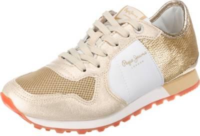 Pepe Jeans, VERONA W SEQUINS Sneakers Low, gold kombi