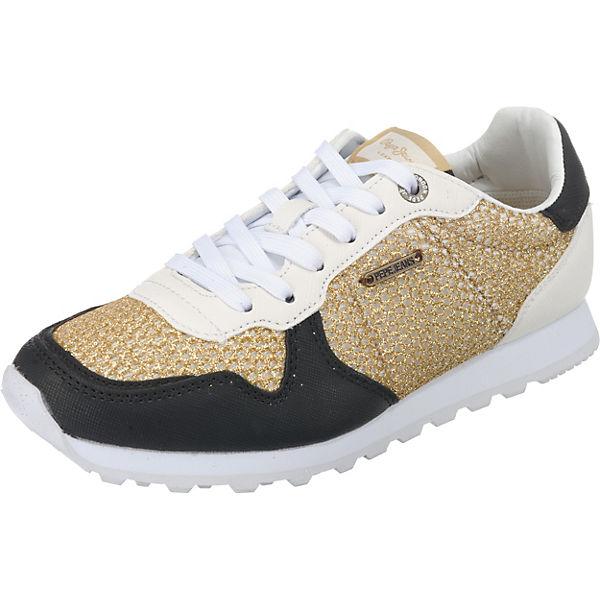 VERONA Low kombi Jeans gold W Pepe Sneakers MESH R4pnqx