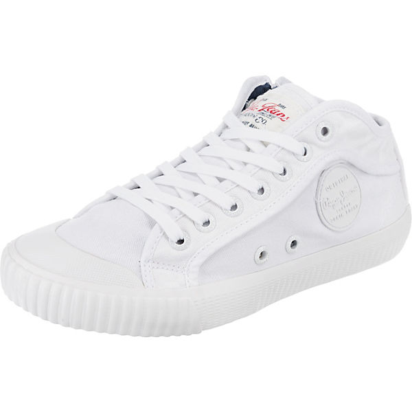 47363d0d1b86 Pepe Jeans, INDUSTRY PLAIN 18 Sneakers High, weiß   mirapodo