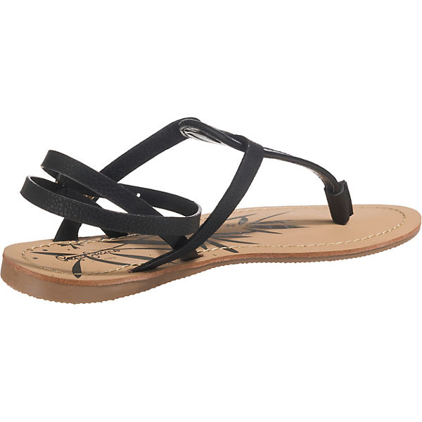 Pepe schwarz Jeans, MUNCH BASS T-Steg-Sandalen, schwarz Pepe   c217bf
