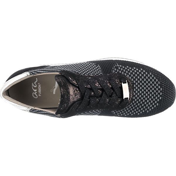 Lissabon 4 Fusion schwarz Low kombi Sneakers ara RqwdgER