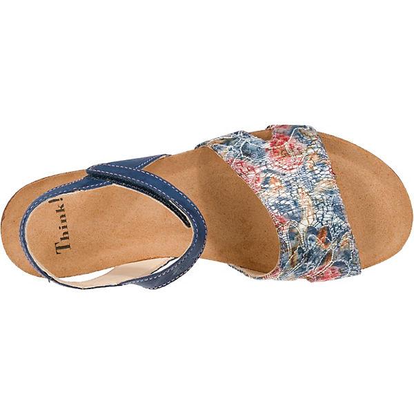 Think!,  Shik Komfort-Sandalen, blau-kombi   Think!, 55541a