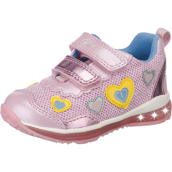 GEOX Baby Halbschuhe Blinkies TODO für Mädchen, Herzen rosa