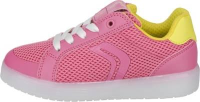 GEOX, Sneakers KOMMODOR mit LED Sohle für Mädchen, pink