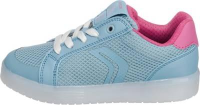 GEOX, Sneakers KOMMODOR mit LED Sohle für Mädchen, blau