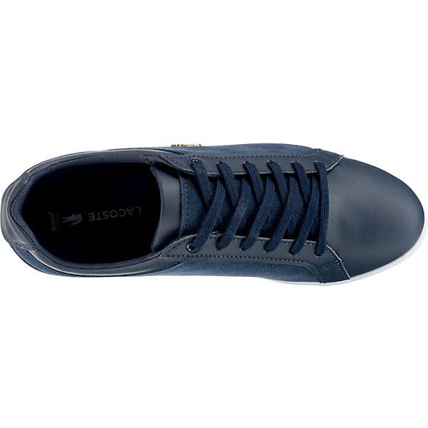 LACOSTE, REY Low, LACE 218 1 CAW OFF WHT/WHT Sneakers Low, REY dunkelblau   0b79f7