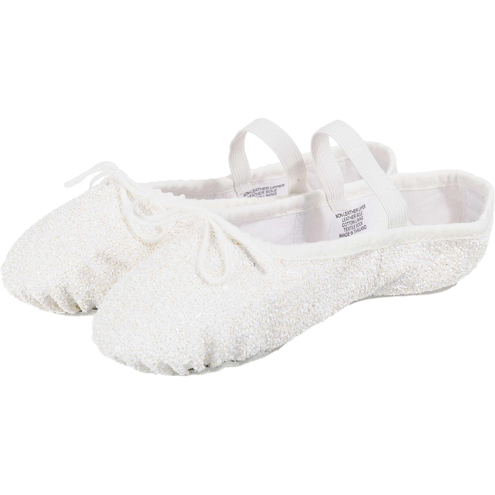 BLOCH Kinder Glitzer Ballettschuhe weiß Mädchen Gr. 25,5