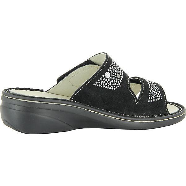 Florett, Sina Komfort-Pantoletten, schwarz schwarz Komfort-Pantoletten,   bb656b