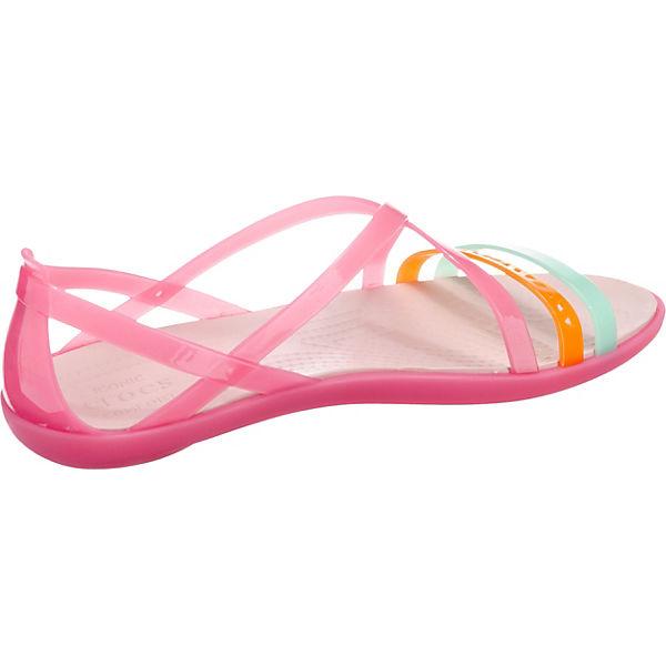 crocs Isabella Paradise Riemchensandalen Strappy Sandal W Cut pink rrwTCdq