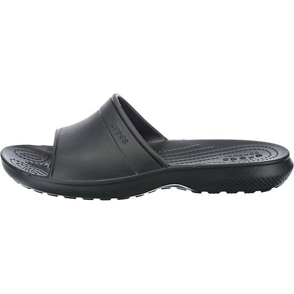 Classic Slide schwarz Pantoletten crocs Komfort fqUdwfP