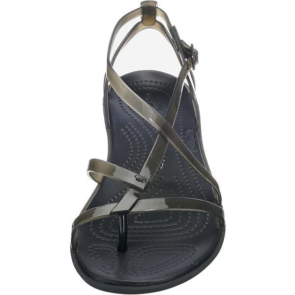 Gladiator W crocs schwarz Isabella Sandal Riemchensandalen 1vq6UnT
