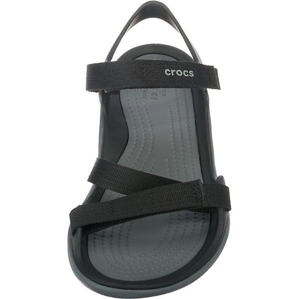 Sandal Komfort crocs Webbing Swiftwater Sandalen schwarz Y8qzExp