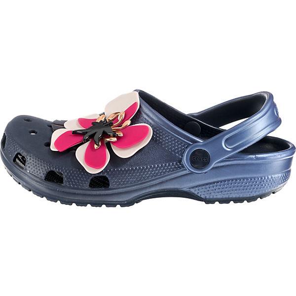 crocs, Classic Botanical Floral  Clog Clogs, blau  Floral  2b98b9