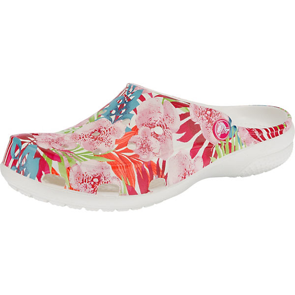 Crocs Freesail Graphic Clog W Tropical Floral/White Clogs