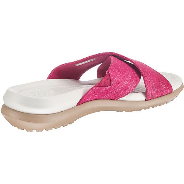 Shimmer pink Xband Capri W Pantoletten Sandal Komfort crocs 0xq5SnE8E