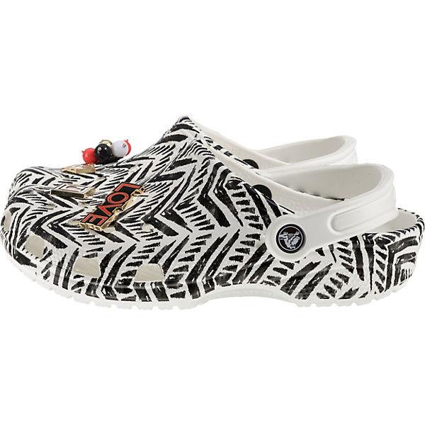 crocs Trib weiß Clogs schwarz Classic Prp85xqP