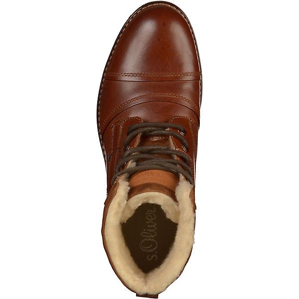 s.Oliver, Schnürstiefeletten, cognac  Gute Schuhe Qualität beliebte Schuhe Gute 45bc5f