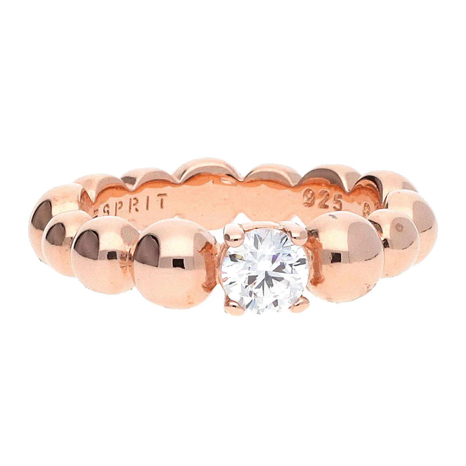 ESPRIT Ring Solo Pellet ESRG92321C rosa Damen G...