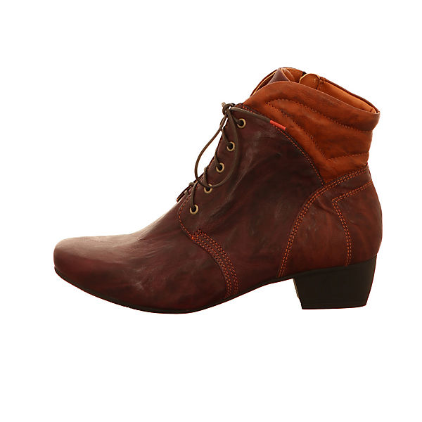 Think!, Schnürstiefeletten, rot  Gute Qualität beliebte Schuhe