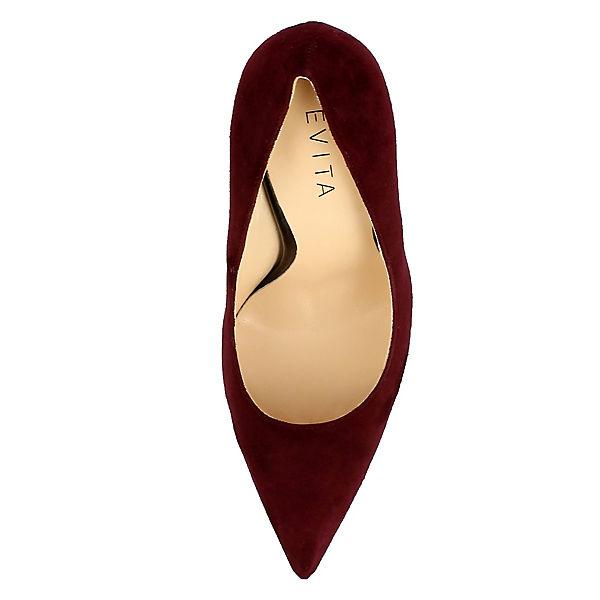 Shoes dunkelrot Pumps Klassische Evita DESIDERIA 84Hfxq