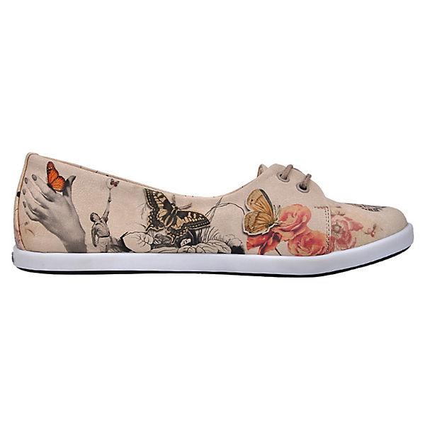 Dogo Shoes, Sportliche mehrfarbig Ballerinas Marilyn With Butterflies, mehrfarbig Sportliche   0961a5