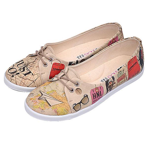 Dogo Shoes, Sportliche Ballerinas Travel Lover, mehrfarbig
