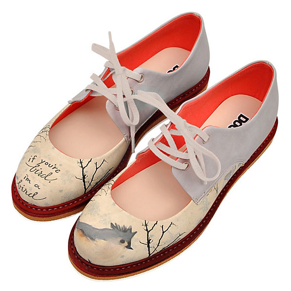 Dogo Shoes, Schnürschuhe I  am a bird, mehrfarbig  I  7cdd2c