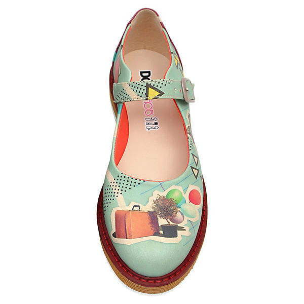 Dogo on Shoes, Offene Halbschuhe I'm always on Dogo vacation, mehrfarbig   c023d5
