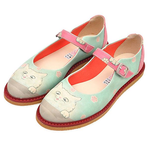 Dogo Shoes Offene Halbschuhe Kitty mehrfarbig