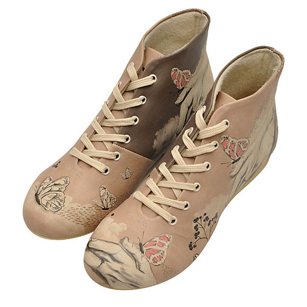 Dogo Shoes Schnürstiefel lady butterfly mehrfarbig