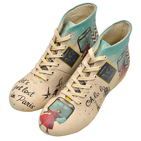 mehrfarbig Schnürstiefel Shoes Paris Dogo in Let's get lost 0RCqzw