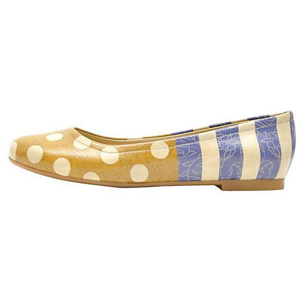 Dogo Shoes Klassische Ballerinas Stripes and Dots mehrfarbig