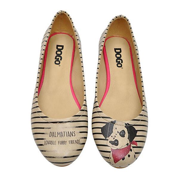 Dogo Shoes,  Klassische Ballerinas Dalmatian, mehrfarbig  Shoes,  cc0b48