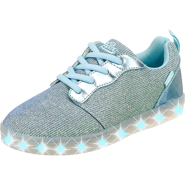 LICO Sneakers DISCO LOW GIRL Blinkies mit LED Sohle für Mädchen hellblau