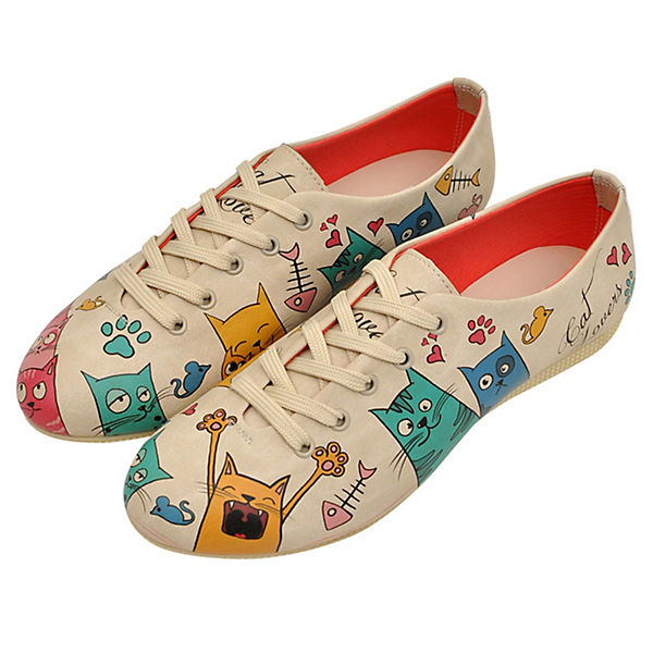 Dogo Shoes, Gute Schnürschuhe Cat Lovers, mehrfarbig  Gute Shoes, Qualität beliebte Schuhe 92c4e2