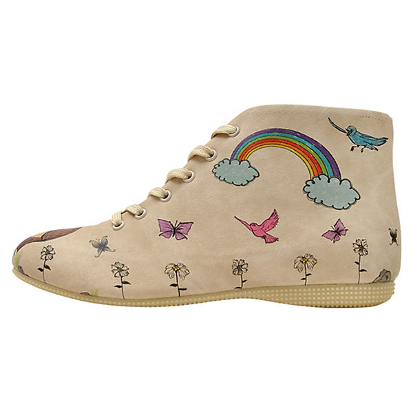 Shoes flowers Dogo mehrfarbig Picked Schnürstiefel pMSfqwPd