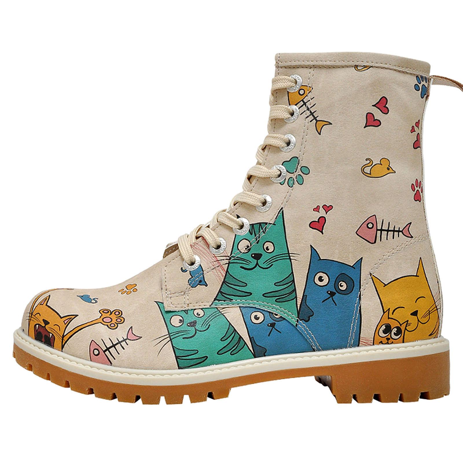Dogo Shoes Klassische Stiefel Cat Lovers mehrfa...