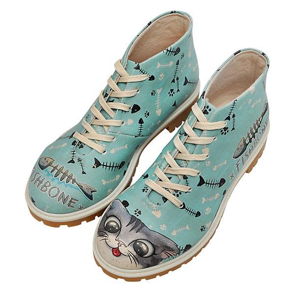 Klassische Fishbone Stiefeletten Dogo Lover mehrfarbig Shoes HBwKq50