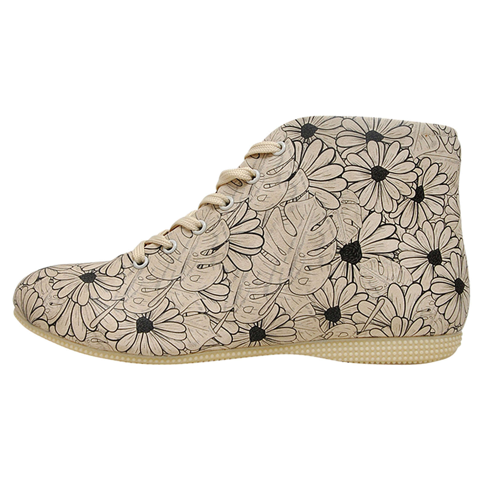 Dogo Shoes Sneakers High Flowers mehrfarbig Dam...