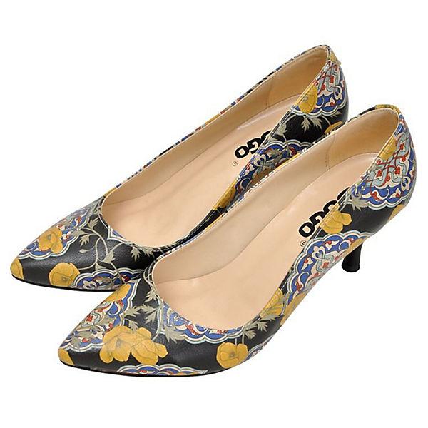 Dogo Shoes, Klassische Pumps Tiles and Qualität Flowers, mehrfarbig  Gute Qualität and beliebte Schuhe 6810cf
